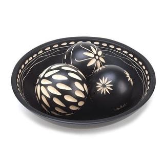 Ebony Decorative Balls Set