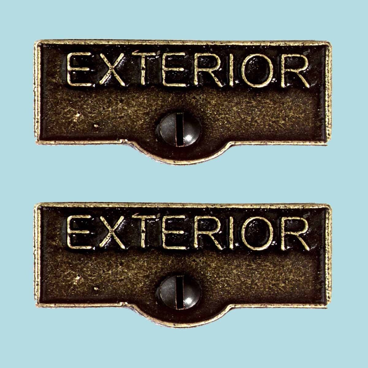 2 Switch Plate Tags Exterior Name Signs Labels Cast Brass Renovator S Supply Overstock 14048591