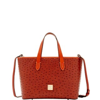 Dooney & Bourke Ostrich Embossed Leather Brandy Bag (Introduced by Dooney & Bourke at $198 in May 2017)