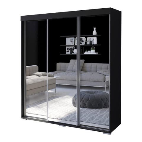 Strick & Bolton Suger 3-door Mirrored Armoire