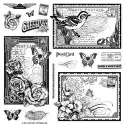 """Postcards - Hot Off The Press Acrylic Stamps 8""""X8"""""""