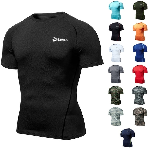 fce9676be0 Shop TSLA Tesla R13 Z-Series UPF-50 Antibacterial Short Sleeve Compression  Shirt - Free Shipping On Orders Over $45 - Overstock - 16286629