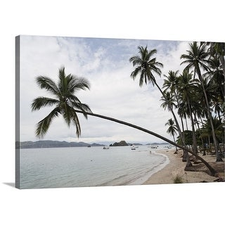 """""""Palm trees on the beach, Puntarenas, Puntarenas Province, Costa Rica"""" Canvas Wall Art"""