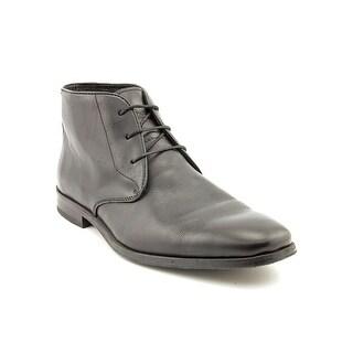 Florsheim Jet Plain Men 3E Round Toe Leather Black Chukka Boot