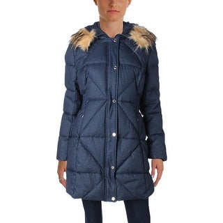 Jessica Simpson Womens Parka Quilted Faux Fur
