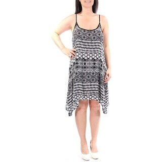 B DARLIN $30 Womens New 1064 Black Tribal Sleeveless Trapeze Dress Juniors 3 BB