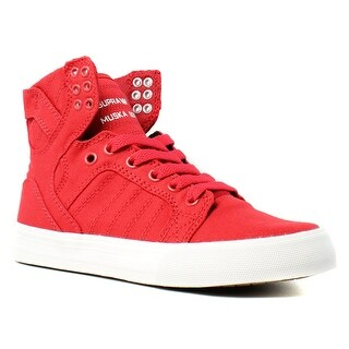 Supra Womens Skytop D Red Fashion Shoes Size 5