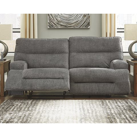 Coombs Contemporary 2 Seat Reclining Sofa, Charcoal