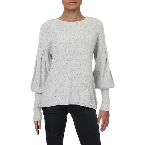 RD Style Womens Sweater Spotted Balloon Sleeves - Spotted Owl