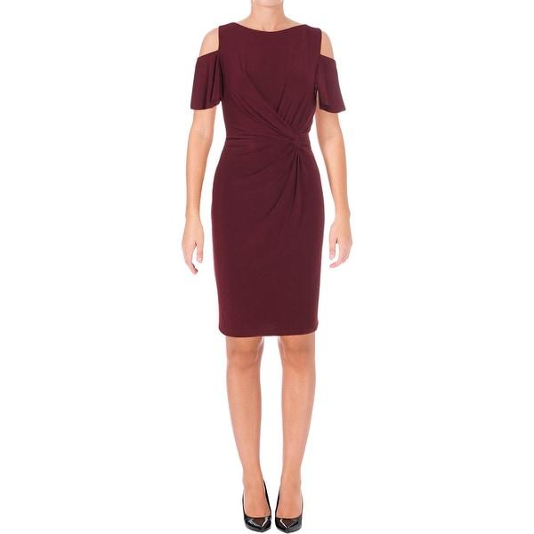 Lauren Ralph Lauren Womens Party Dress Jersey Cold Shoulder