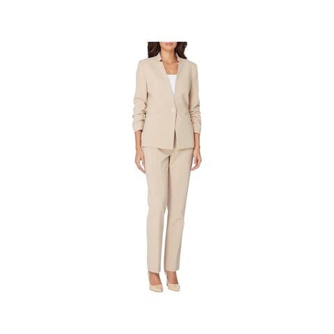 Tahari ASL Womens Pant Suit 2PC Single Vent - 10