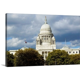 """State Capital building of Providence Rhode Island"" Canvas Wall Art"