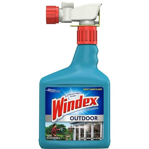 Windex 10122 Outdoor Glass & Patio Concentrated Cleaner, 32 Oz