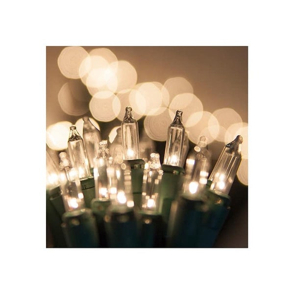 """Wintergreen Lighting 15261 17.5' Long Outdoor Standard 35 Twinkle Mini Light Holiday Light Strand with 6"""" Spacing and Green Wire"""
