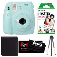 Fujifilm Instax Mini 9 (Ice Blue) w/ Instax Film Essential Bundle