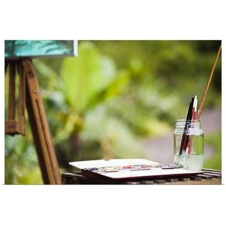 """""""Paintbrushes and paints"""" Poster Print"""
