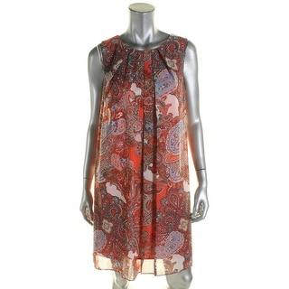 Jessica Howard Womens Casual Dress Chiffon Paisley Print