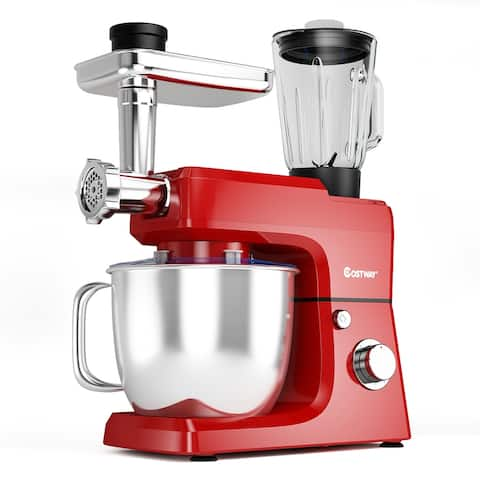 Costway 3 in 1 Multi-functional 800W Stand Mixer Meat Grinder Blender