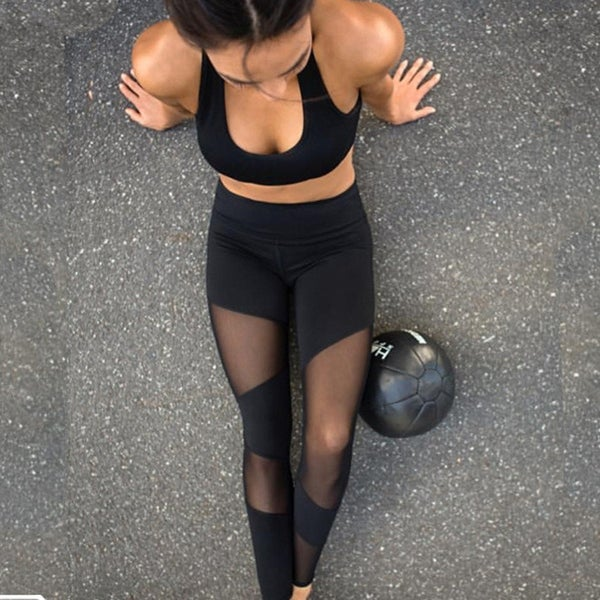 18f07939967812 Sports Leggings Women Fitness Clothing Black Gym Sportswear Running High  Waist Yoga Pants