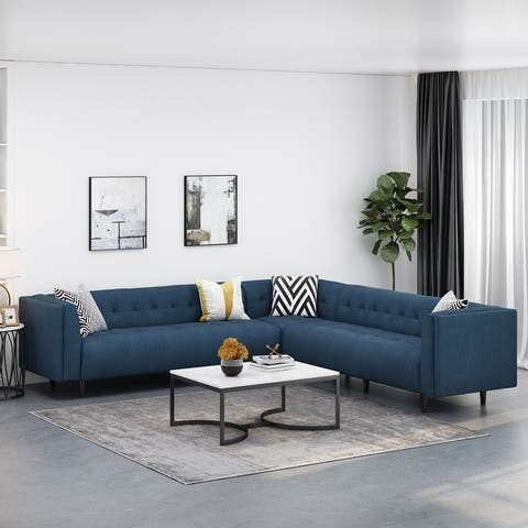 Hardaway 7-Seater Fabric Sectional Sofa by Christopher Knight Home