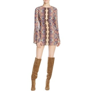Free People Womens Casual Dress Paisley Scalloped Print