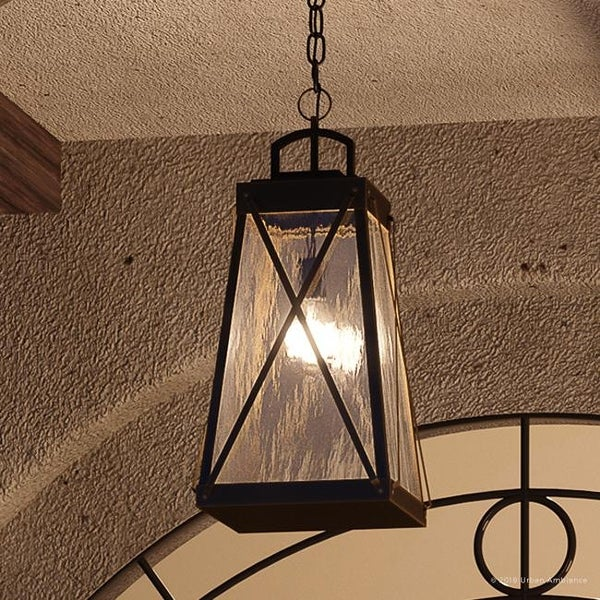 Shop Luxury English Tudor Outdoor Pendant Light 21 625 Quot H X 10 5 Quot W With Rustic Style Olde Bronze Finish By Urban Ambiance Free Shipping Today