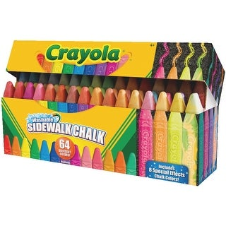 Crayola Washable Sidewalk Chalk, Assorted Colors, Set of 64