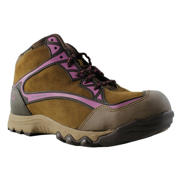 d6f6f3bcfa1 New Wolverine Womens Fairmontsteeltoehiker-W Brown/Fuchsia Hiking Boots  Size 10