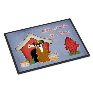 Carolines Treasures BB2870JMAT Dog House Collection Flashy Fawn Boxer Indoor or Outdoor Mat 24 x 0.25 x 36 in.