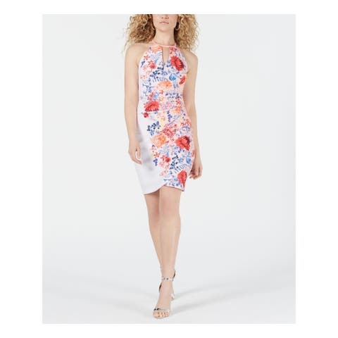 GUESS Womens Pink Floral Sleeveless Mini Shift Party Dress Size 10