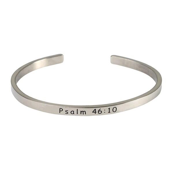 Women X27 S Verse Sterling Silver Engraved Cuff Bracelet Psalm