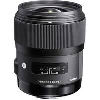 Sigma 35mm f/1.4 DG HSM Art Lens for Nikon DSLR Cameras (International Model) - black