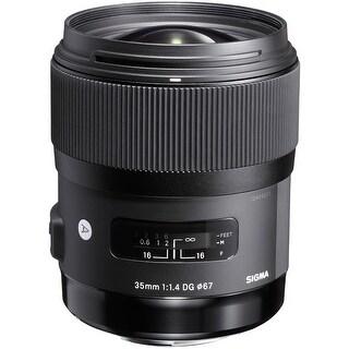 Sigma 35mm f/1.4 DG HSM Art Lens for Nikon DSLR Cameras (International Model) - Black