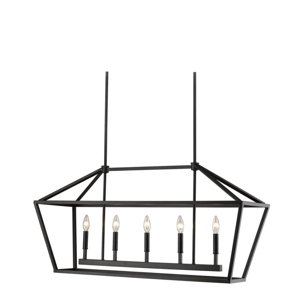 "Millennium Lighting 3245 Corona 5-Light 40"" Wide Linear Taper Candle Chandelier - n/a - Thumbnail 0"