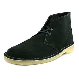 Clarks Originals Desert Boot Men Round Toe Leather Green Desert Boot