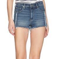 Lucky Brand Blue Women's Size 6 Distressed Frayed Denim Shorts