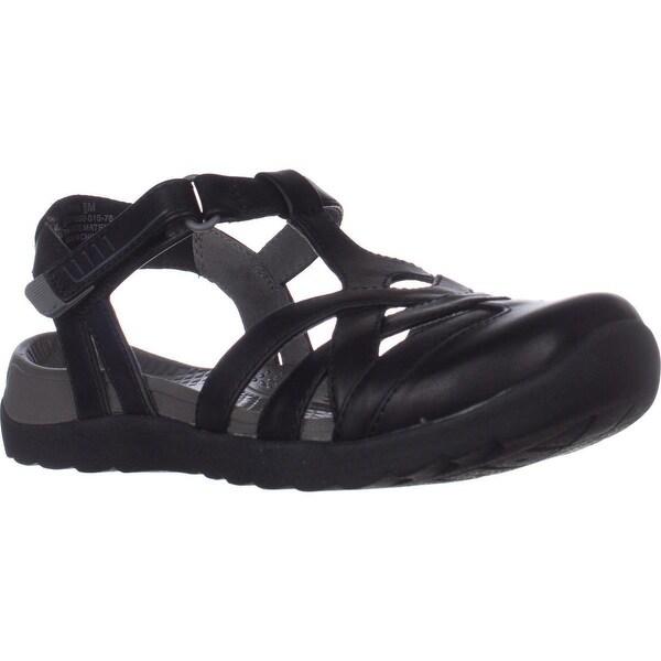BareTraps Fayda Flat Comfort Sandals, Black