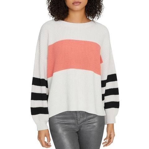 Sanctuary Womens Crewneck Sweater Striped Cropp