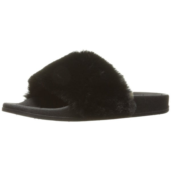 Topline Women's Pinache Slide Sandal, Black, Size 8.0