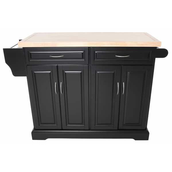 Shop Zenvida Kitchen Island Cart With Wood Top - Free ...