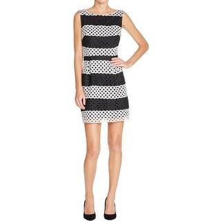 Aqua Womens Wear to Work Dress Knit Striped
