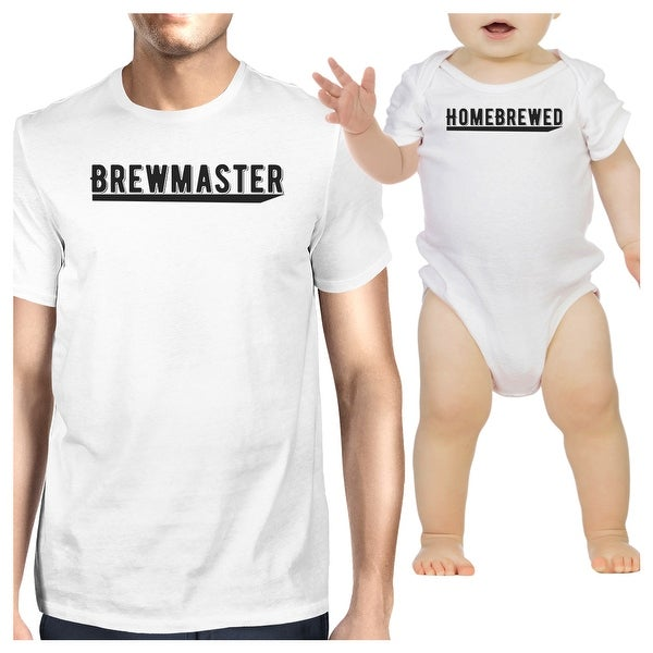 Brewmaster Homebrewed Matching Shirts Funny Gift For Baby Shower