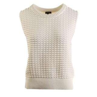 Vince Camuto Womens Textured Scoop Neck Sweater Vest