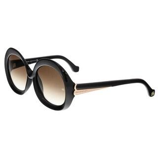 Balenciaga BA0007 01F Shiny Black Round Sunglasses - Shiny Black