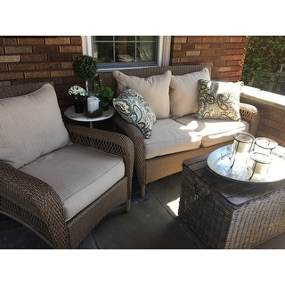 Shop Clara Indoor Outdoor Wicker Sofa Cushion Set Made