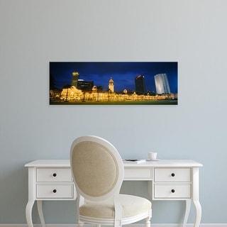Easy Art Prints Panoramic Images's 'Buildings lit up at night, Kuala Lumpur, Malaysia' Premium Canvas Art