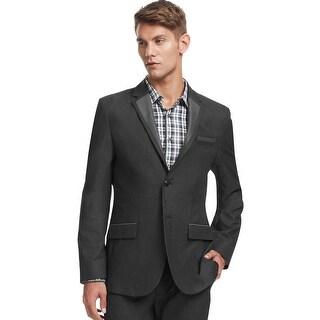 Kenneth Cole Reaction Super Slim Fit Charcoal 2 Button Sportcoat Blazer Large L
