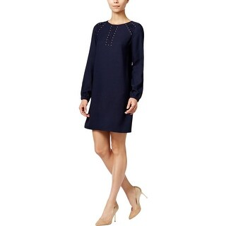Jessica Simpson Womens Cocktail Dress Studded Long Sleeves