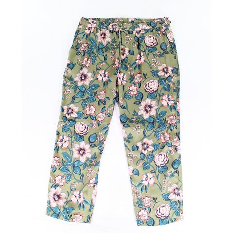 Lauren by Ralph Lauren Green Women's Size 10X28 Floral Pants