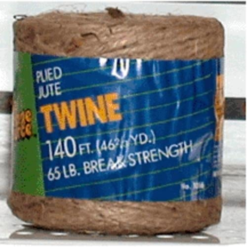The Cordage Source 1006-WA Tube Natural Jute Twine, 3/140'